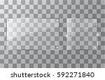 vector square glass frame.... | Shutterstock .eps vector #592271840