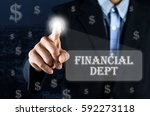 business man pointing hand on... | Shutterstock . vector #592273118