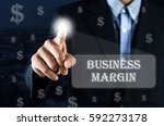 business man pointing hand on...   Shutterstock . vector #592273178