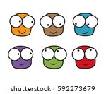 a set of characters. they are... | Shutterstock .eps vector #592273679