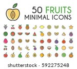 set of 50 minimalistic solid... | Shutterstock .eps vector #592275248