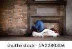 Poor Homeless Man In The Stree...