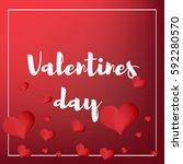 valentines day    Shutterstock .eps vector #592280570