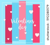 valentines day  | Shutterstock .eps vector #592280579