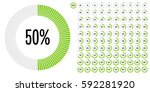 set of circle percentage... | Shutterstock .eps vector #592281920
