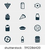 vector illustration of 12 food... | Shutterstock .eps vector #592286420