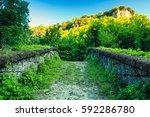 medieval bridge | Shutterstock . vector #592286780
