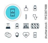 illustration of 12 medical... | Shutterstock . vector #592287488
