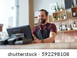 small business  people and... | Shutterstock . vector #592298108