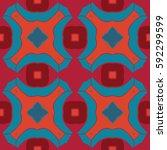 the geometric texture. boho... | Shutterstock .eps vector #592299599