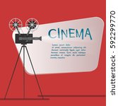 cinema background or banner.... | Shutterstock . vector #592299770