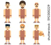 basketball players isolated on... | Shutterstock .eps vector #592300229