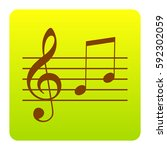 music violin clef sign. g clef... | Shutterstock .eps vector #592302059