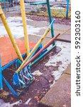abandoned amusement park | Shutterstock . vector #592303160