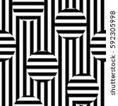 vector monochrome seamless... | Shutterstock .eps vector #592305998
