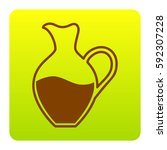 amphora sign. vector. brown...