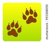 animal tracks sign. vector.... | Shutterstock .eps vector #592308050