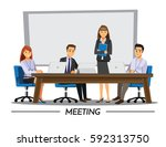 business people having board... | Shutterstock .eps vector #592313750