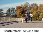 fitness  sport  people and... | Shutterstock . vector #592315400