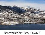 horsetooth reservoir lake and... | Shutterstock . vector #592316378