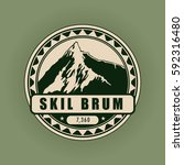 skil brum  mountain symbol ... | Shutterstock .eps vector #592316480