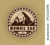 momhil sar  mountain symbol ... | Shutterstock .eps vector #592316498