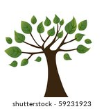 vector background with tree.