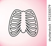 human ribs breast icon | Shutterstock .eps vector #592330079
