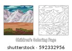 coloring page for children. a... | Shutterstock . vector #592332956