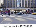 new york  ny  2 mar 2017 ... | Shutterstock . vector #592339238