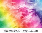 Abstract Powder Splatted...