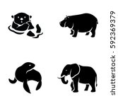 mammals vector icons | Shutterstock .eps vector #592369379
