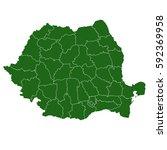 romania green map   Shutterstock .eps vector #592369958