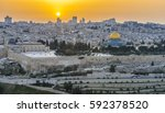 Panoramic View To Jerusalem Ol...
