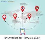 design template  tablet enter... | Shutterstock .eps vector #592381184