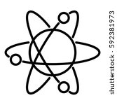 atom icon with orbits the...   Shutterstock .eps vector #592381973