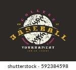 emblem of baseball tournament.... | Shutterstock .eps vector #592384598