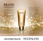 cosmetic ads template ... | Shutterstock .eps vector #592396190