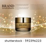cosmetic ads template ... | Shutterstock .eps vector #592396223