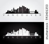 Vancouver Skyline And Landmark...