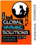 global warming solutions | Shutterstock .eps vector #592409219