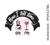 vector illustration of drink... | Shutterstock .eps vector #592412786