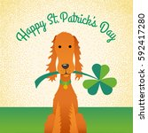happy st. patrick's day. funny... | Shutterstock .eps vector #592417280