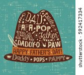 father's day greeting card.... | Shutterstock .eps vector #592417334