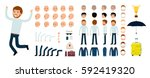 man character creation set. the ... | Shutterstock .eps vector #592419320