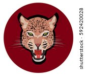 Leopar Head Jaguar  Vector ...