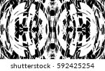 grunge black and white urban... | Shutterstock .eps vector #592425254