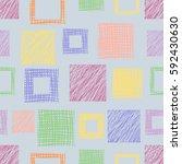 seamless raster geometrical... | Shutterstock . vector #592430630