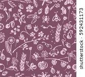 seamless raster pattern ... | Shutterstock . vector #592431173
