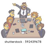 business meeting with... | Shutterstock .eps vector #592439678